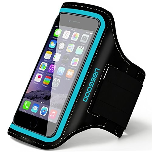 Ubegood Sports Armband, iPhone 6s Armband for Running Jogging Case Cover with Adjustable Velcro Strap & Key Pocket also fits iPhone 6S/6/5S/5/5C, Galaxy S6 edge/S6/S5/S4 (blue)