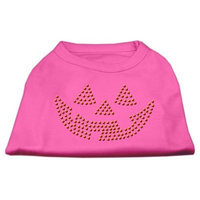Mirage Pet Products 521302 XXLBPK Jack O Lantern Rhinestone Shirts Bright Pink XXL 18