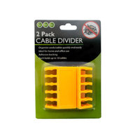 Bulk Buys GM819 2 Pack Cable Divider Case of 144