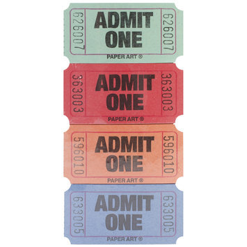 Creative Expressions 13-2500 Admit One Tickets 2000 Tickets/Roll