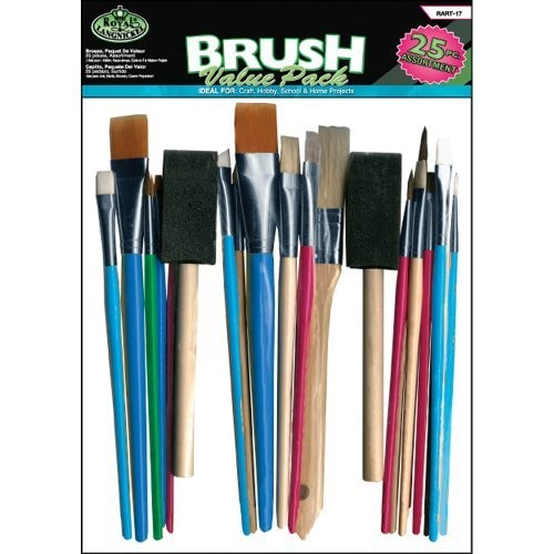 Royal Brush Langnickel 25-Piece Brush Value Pack, Assorted Sizes [1]