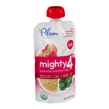 Plum Organics Mighty 4 Greek Yogurt Tots Kale Strawberry Amaranth
