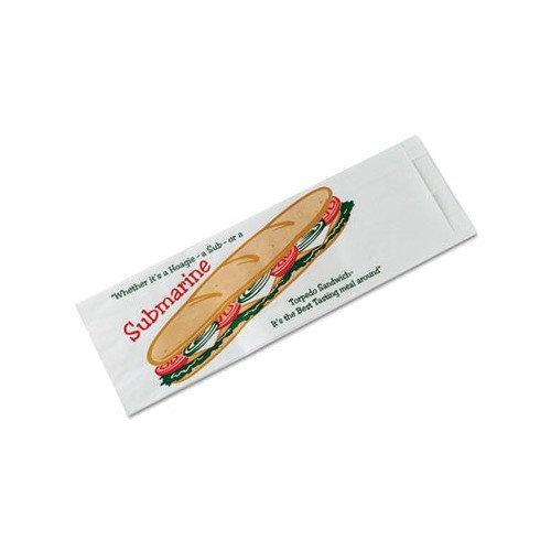 Packaging Dynamics BGC300435 Bagcraft Papercon Sub Sandwich Bags