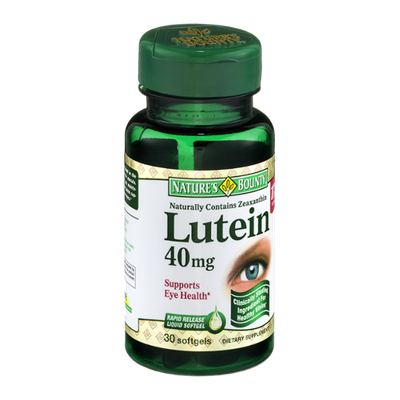 Nature's Bounty Lutein 40 mg Softgels - 30 CT