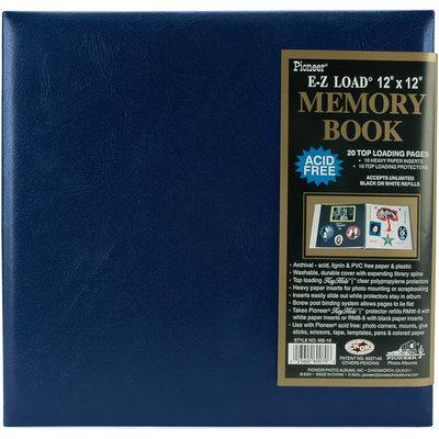Pioneer Scrapbook Albums 12x12 Leatherette Postbound Scrapbook Album Navy