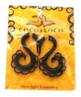 Horn Split Expanders Medium Black Coco Loco 1 Earring