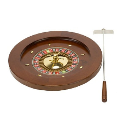 CHH Deluxe Wooden Roulette with Rake, 16 inch, 1 ea