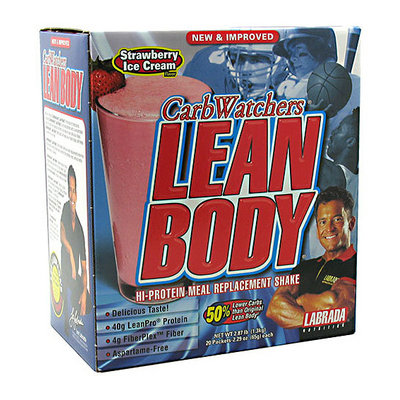 CarbWatchers Lean Body Strawberry Ice Cream Hi-Protein Meal Replacement Shake Powder