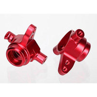 TRAXXAS Traxxas 6837R Steering Blocks, Aluminum Left and Right Red-Anodized, Slash 4x4