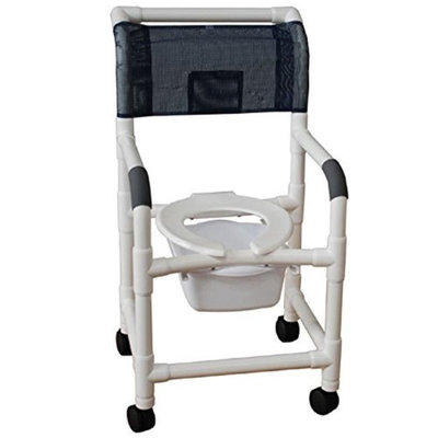 MJM International 118-5-SQ-PAIL Shower Chair 18 in.