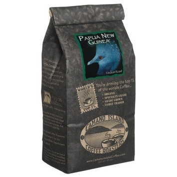 Organic Camano Island Coffee Roasters Papua New Guinea, Medium Roast, Whole Bean, 16-Ounce Bags (Pack of 3)