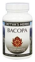 Tattva's Herbs - Organic Bacopa Full Spectrum CO2 Extract - 120 Vegetarian Capsules
