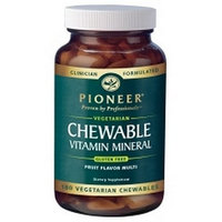 Pioneer Chewable Vitamin Mineral Tablets, 180-Count Bottle