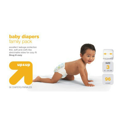 up & up Baby Diapers Value Box - Size 3 (96 Count)