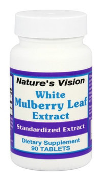 Natures Vision Nature's Vision - White Mulberry Leaf Extract 500 mg. - 90 Tablets