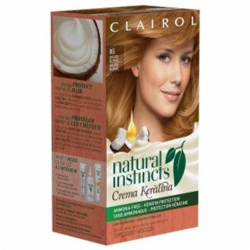 Clairol Natural Instincts Crema Keratina Hair Color, 8G Golden Blonde, 1 set
