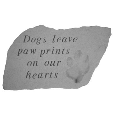 Kay Berry Paw Print Dog Memorial Stone