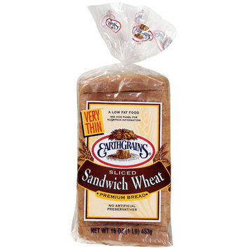 Earth Grains Earthgrains Very Thin Sandwich Wheat Bread, 16 oz