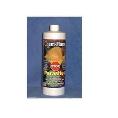 Chem-Marin ACH10132 Stop Parasites for Aquarium, 32-Ounce