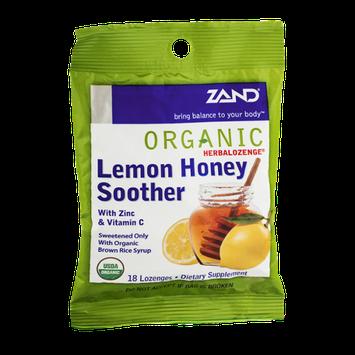 Zand Organic Herbalozenge Lemon Honey Soother with Zinc & Vitamin C - 18 CT