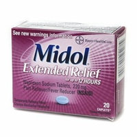 Midol Extended Relief 220mg Pain Reliever Caplets - 20 CT