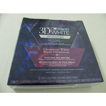 Crest 3D WHITE Whitestrips LUXE Glamorous White 28 Strips , 14 treatments
