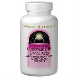 Source Naturals Coenzyme Q10 Lipoic Acid - 30 mg - 60 Capsules