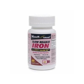Mason Natural Slow Release Iron, Tablets 60 ea