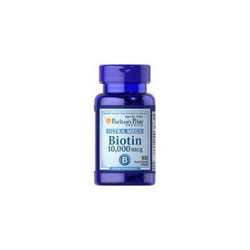 Ultra Mega Biotin 10,000 mcg 100 softgels (3-Bottle Pack = 300 softgels)