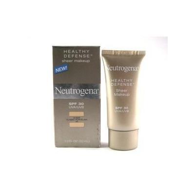 Neutrogena Healthy Defense Spf 30 UVA/UVB Sheer Makeup 20 Sheer Classic Porcelain 1.1 Oz