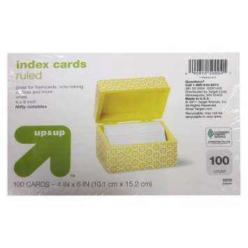 up & up - 100ct Ruled Index Cards