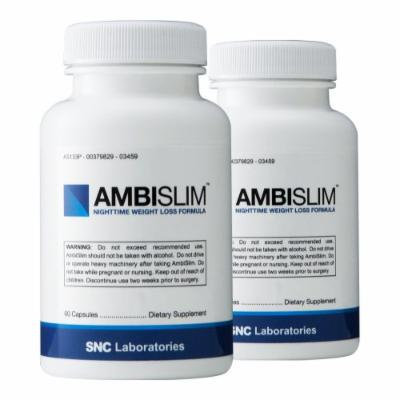 Ambislim (2 Bottles) - Night Time Weight Loss Aid. Lose Weight While You Sleep!