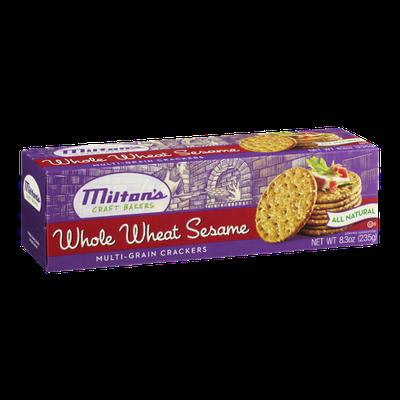 Milton's Craft Bakers Multi-Grain Crackers Whole Wheat Sesame