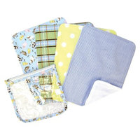 Trend Lab 5-Piece Baby Burp Cloth and Pouch Set - Baby Barnyard by Lab