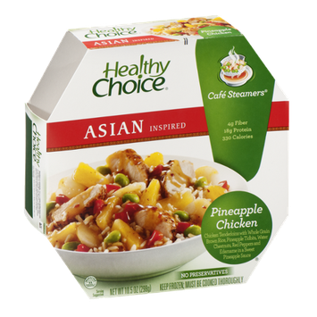 Healthy Choice Asian Inspired Cafe Steamers Pineapple Chicken