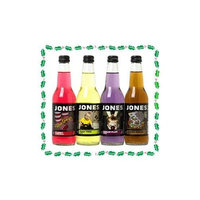 Jones Holiday Gift Pack Soda 4 Pack 2011 Candy Cane, Ginger Bread, Sugar Plum, Pear Tree