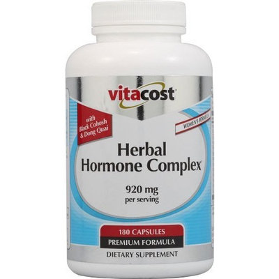 Vitacost Brand Herbal Hormone Complex to Support Women's Health During and Following Menopause* With Black Cohosh, Dong Quai Passion Flower, Red Raspberry, Fenugreek, Licorice, Chamomile, Cramp Bark, Saw Palmetto, Wild yam, Butternut and Kelp - 920 mg per serving - 180 Capsules