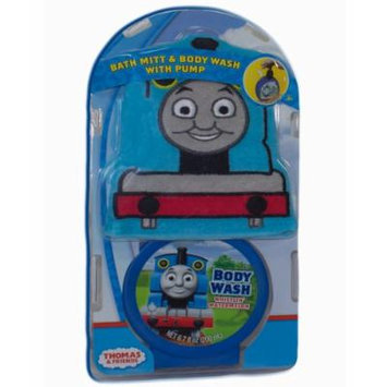 Thomas and Friends, Bath Mitt Set with Body Wash Pump, Thomas The Train