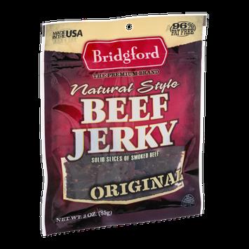 Bridgford Natural Style Beef Jerky Original
