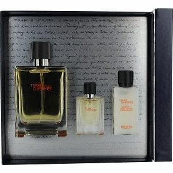 Hermes Terre D'Hermes Gift Set for Men with Aftershave, 1 set