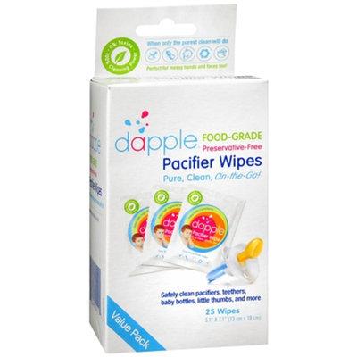 dapple Pacifier Wipes, 25 ea
