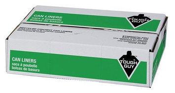 TOUGH GUY 31DK54 Trash Bag, Black,30inWx36inL, PK125