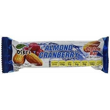 Oskri Almond & Cranberry Protein Bar, 1.9 ounce (Pack of 20)