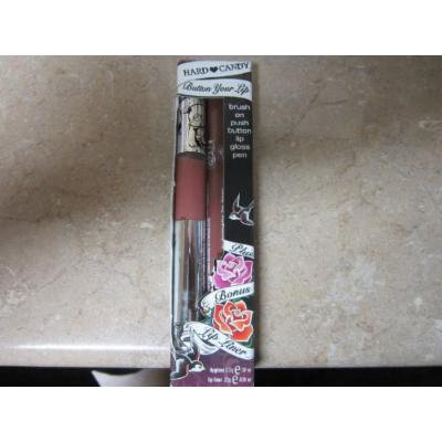 Hard Candy Brush on Push Button Lipgloss - Lip Liner Color Queen 218 / 2.2 G Each