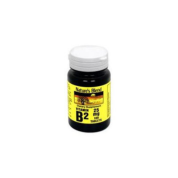 Nature's Blend Vitamin B-2, 25 mg, Tablet, 100 ct.
