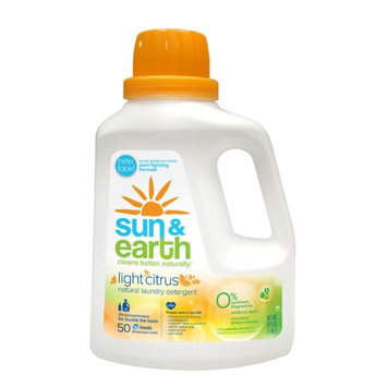 Sun & Earth Sun and Earth 2x Concentrated Laundry Detergent - Light Citrus Scent - Case of 6 - 50 oz - HSG-451484