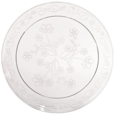 King Zak Ind Lillian Tablesettings 13210 D'Vine 10 in. Clear D'Vine Plate Dinnerware - 240 Per Case