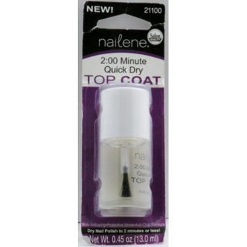 Nailene 2 Minute Quick Dry Top Coat Net Wt 0.45 Oz