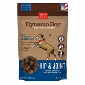 Cloud Star Dynamo Dog Functional Treats: Hip & Joint, Bacon & Cheese, 14 oz