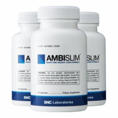 Ambislim (3 Pack) - Night Time Weight Loss Aid. Lose Weight While You Sleep!